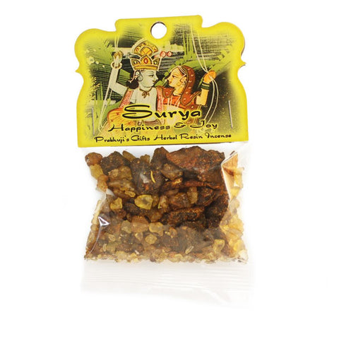 Handmade Herbal Resin Incense Surya - Happiness and Joy - 1.2oz bag