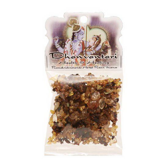 Handmade Herbal Resin Incense Dhanvantari - Health and Healing - 1.2oz bag