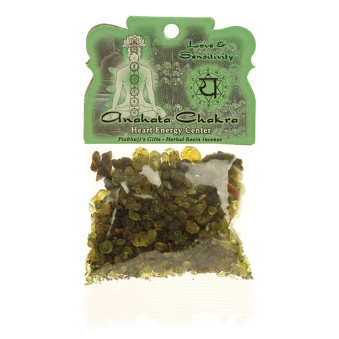 Handmade Resin Incense Heart Chakra Anahata - Love and Sensitivity - 1.2oz bag