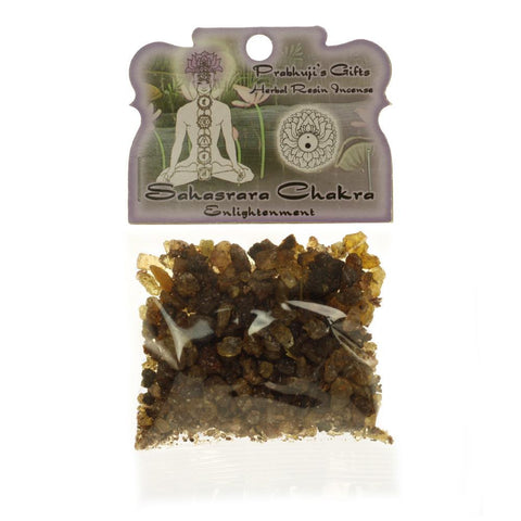Handmade Herbal Resin Incense Crown Chakra Sahasrara - Enlightenment - 1.2oz bag