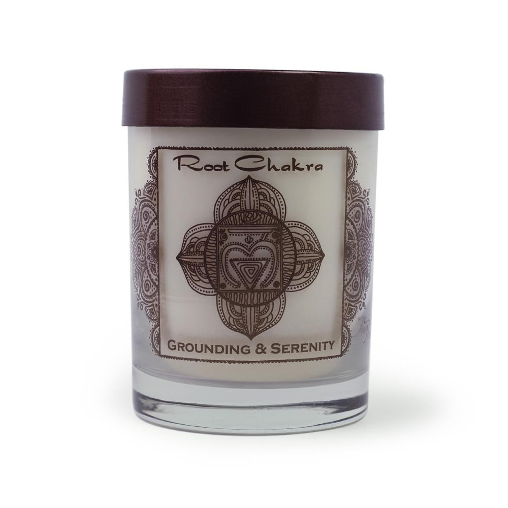 Soy Candle for Root Muladhara Chakra Meditation Scented with Essential Oils
