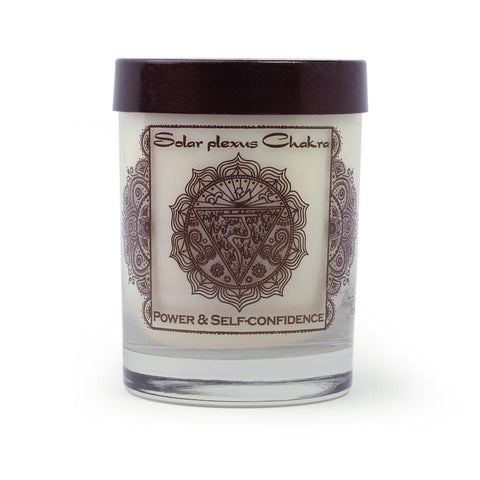 Soy Candle for Root Manipura Chakra Meditation Scented with Essential Oils