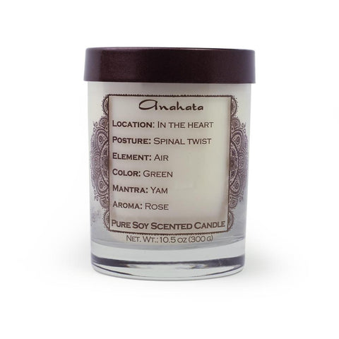 Soy Candle for Root Anahata Chakra Meditation Scented with Essential Oils