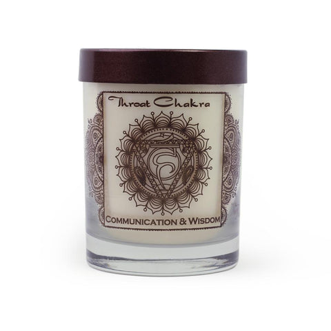 Soy Candle for Root Vishudda Chakra Meditation Scented with Essential Oils