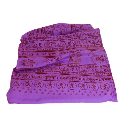 Purple Large Meditation Yoga Prayer Shawl - Maha Mantra Shawl