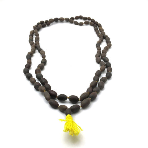Lotus Seed Knotted Prayer Mala Chanting Japa -108 Prayer Beads Handmade 38""