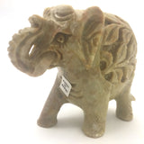 Soapstone Decorative Solid Elephant Statue Trunk Up-Fine Detail -Handcrafted 3""