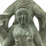 Stone-carved Kali Statue India Goddess Standing Over Shiva Rare Handcrafted 8.5""