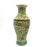 Oriental Ceramic Hand-painted Colorful Flowers and Nature Decorative Vase 10""