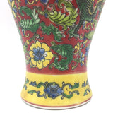 Oriental Ceramic Hand-painted Colorful Flowers and Nature Decorative Vase 10.25""