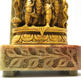 India Couple Sri Lakshmi Narayana Standing on Resin and Soapstone Base Statue