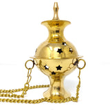 Hanging Burner Brass Incense Charcoal Resin Star Decor Burner Holder Jali 5.25""