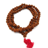 Rudraksha Mala Japa Beads Meditation Prayer - 108 Prayer Beads Handmade 19.5""