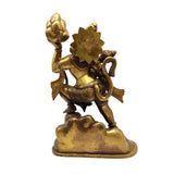 Brass India Lord Hanuman Hanumanji Monkey God Murthi Statue Handcrafted 12.5""