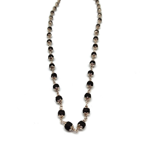 Tulsi Tulasi Necklace Pure Tulsi Silver Sterling Necklace India Handmade 8.25""