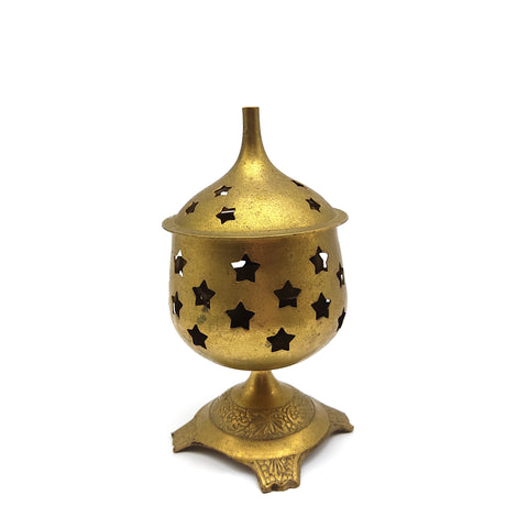 Antique India Brass Lamp Diya -Decorative Brass Lamp Diya Unique Brass Oil Lamp