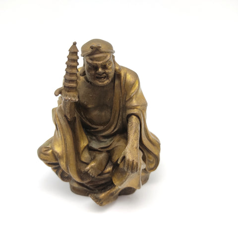 Vaisvanara Tamon-ten Buddhism Heavenly King West Statue Figurine Pagoda 4.5""