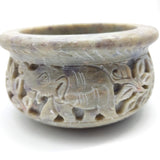Soapstone Scrying Smudging Bowl  Burner W/Palo Santo Raw Incense Sticks 4.75""