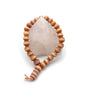 Set Rose Quartz Clear Point Mineral Healing Gemstone W/Agate Mala Prayer Bracelet