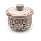 Scrying Burner Soapstone Decorative Smudging Bowl Pot India Burner W/Lid 4.25""