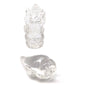 Clear Pure Crystal Quartz Carved India Ganesh Ganapati Shankh Conch Blessing
