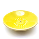 Ceramic Yellow Sun Plate Incense Burner Holder W/10 Incense Sticks Nag Champa