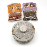 Smudging Bowl Burner With 2 Exotic Vegan Herbal Resin Incense Aromatehrapy Set