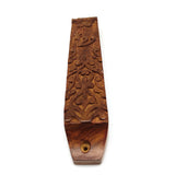Home Blessing Jewish Wooden Mezuzah Case Handcrafted Ornamental Design 9""