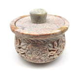 Set Soapstone Smudging Bowl Pot Incense Burner W/ Vegan Herbal Resin Incense