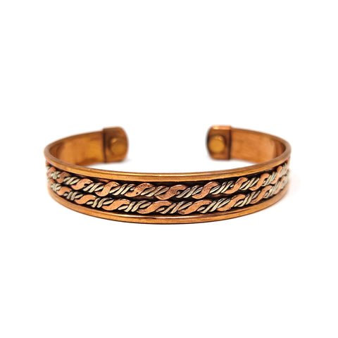 Unisex Magnetic Copper Adjustable Bracelet Arthritis Joint Pain 2 Powerful Magnets