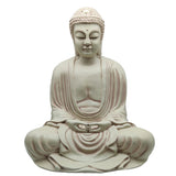 "Stone Finish Meditating Dhayana Mudra Japanese Buddha Buddhism Statue 16"" Tall"