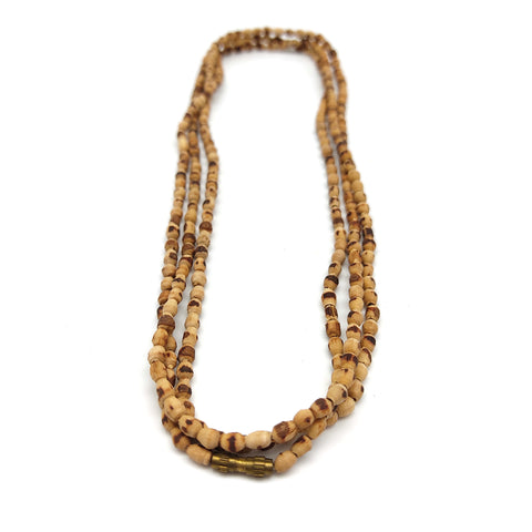 "25.5"" Pure Kunti Kanthi Mala Necklace Tulasi Tulsi  Beads 100% Natural Handmade"