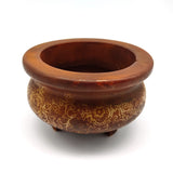 Soapstone Incense Smudging Bowl Burner Jade Pot 3-Legged Eastern Decorative
