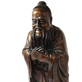 Bronze Kong ZI Confucius Confucian Philosopher Educationist Statue Sculpture 18""