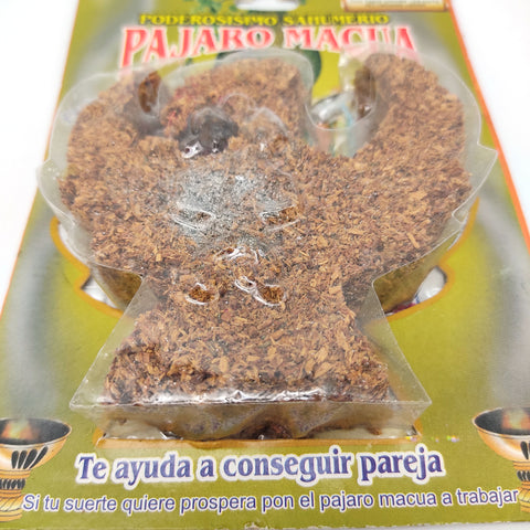 Esoteric Smudging Incense Palo Santo Macaw Bird Pajaro Macua For Love Coupleship