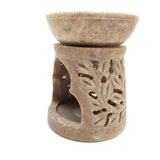 Cute Small Sun Oil Burner Oil Diffuser Handcrafted India Soapstone Decorative 3.25""