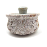 Small Scrying Soapstone Incense Smudging Bowl Burner Pot With Lid Handmade 3.5""