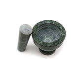 100% Green Marble Mortar and Pestle All Natural Marble Hand-carved Handmade 3""