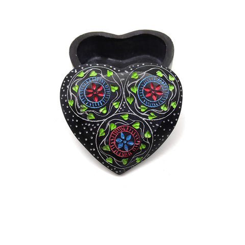 Soapstone Colorful Heart Design Gift Set Oil Diffuser Burner and Heart Shaped Box