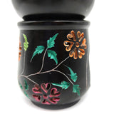 Flower Carved Oil Diffuser Burner Candle Holder India Hand-carved Soapstone 3.5""