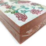 "Dragonfly Handcrafted India Soapstone Decorative Box Trinket keepsake 6"" Long"