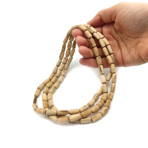 India Kunti Kanthi Tulasi Tulsi Handcrafted Holy Beads Necklace 100% Natural 49.5""