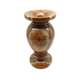 "7.75"" Tall All Natural Onyx Stone Vase Handmade Heavy Lovely Home Decor Vase"