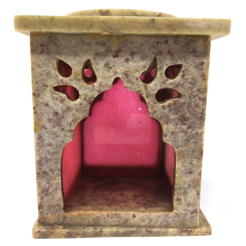 Handcrafted India Soapstone Oil Burner Diffuser Tea Light Candle Holder
