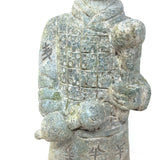 Stone Terracotta Standing Chinese China Warrior Soldier Guard Statue Idol 13.5""