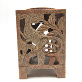 Handcrafted Soapstone Oil Burner Diffuser Tea-Light Candle Holder – Elephant