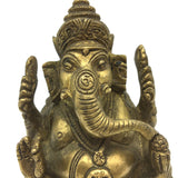 Detailed Brass Ganesh Ganapati India Elephant God Statue –Obstacle Remover 4""
