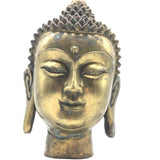 Amazing Brass ShakyaMuni Buddha Head Buddhism Sculpture Statue -Handcrafted