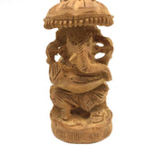 Sandalwood Lord Ganesha Ganpati Handmade India God Sandalwood Statue 3""