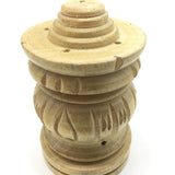 "Light Wood Handcarved Stick Incense Holder 3.5"" -All Natural Wood Incense Burner"